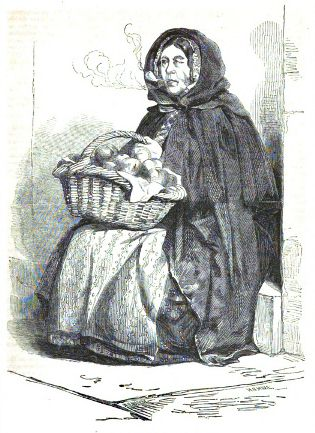 The Irish Street Seller, 1864.