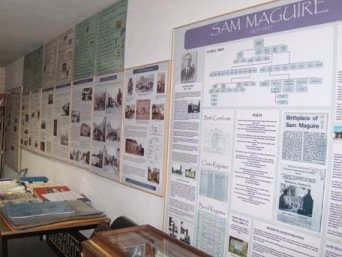 Wall displays at Dunmanway Heritage Centre.