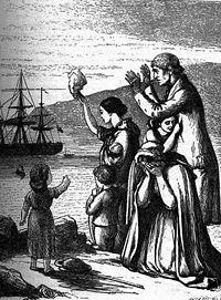 1868 depiction of Irish emigration