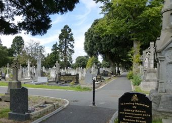 A view of Glasnevin Cemetery in Dublin.