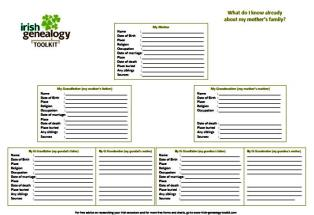free blank genealogy forms to kick start your search for irish