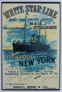 Poster for White Star Line cruises to New York