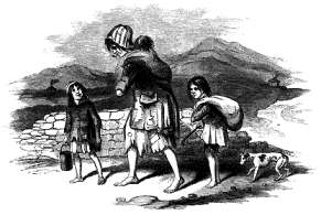 Irish famine - destitute Kerry family