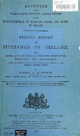 irish surnames the 20 most common in 19th century ireland
