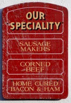 Old food sign, Ireland